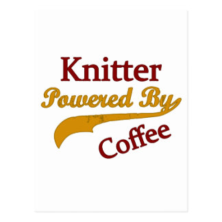 Knitter Powered By Coffee Postcard