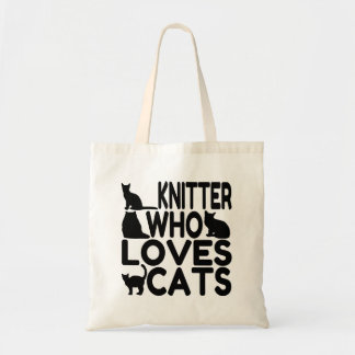 Knitter Who Loves Cats Tote Bag