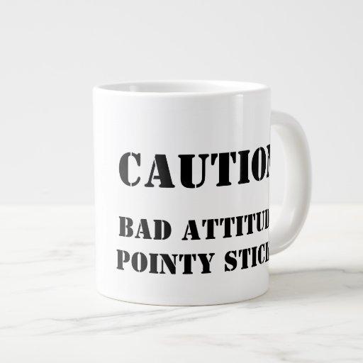 Knitter with an attitude jumbo mugs