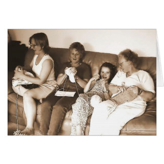 Knitters (card)