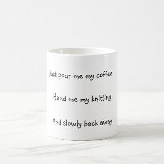 Knitter's Classic White Coffee Mug