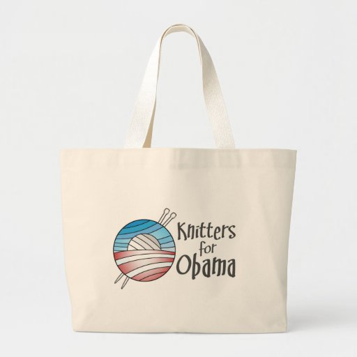 Knitters for Obama, Tote Canvas Bag