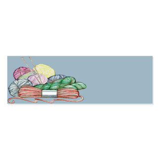 Knitters Gift Card 1 Business Card Template