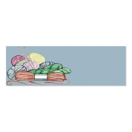 Knitters Gift Card 1 Double-Sided Mini Business Cards (Pack Of 20)