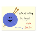 Knitter's Hang Tag Business Card Template