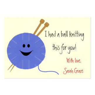 Knitter's Hang Tag Large Business Card