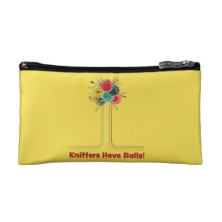 Knitters Have Balls Funny Knitting Accessory Bag