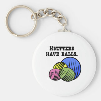 knitters have balls keychains