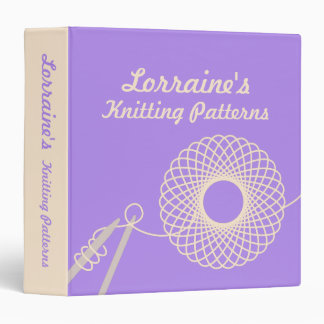 Knitters Knitting patterns purple & cream folder