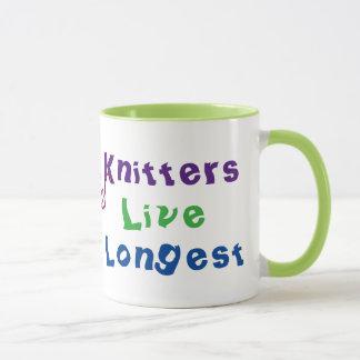 Knitters Live Longest Mug