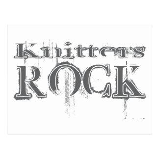 Knitters Rock Postcard