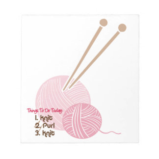 Knitters To Do List Notepad
