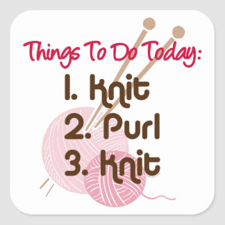Knitters To Do List Sticker