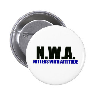 Knitters With Attitude Pinback Button