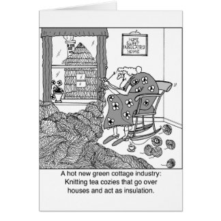 Knitting, a Green Cottage Industry Card