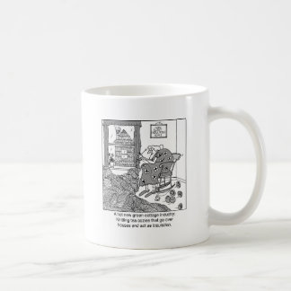 Knitting, a Green Cottage Industry Coffee Mug