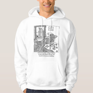 Knitting, a Green Cottage Industry Hoodie