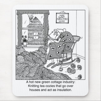 Knitting, a Green Cottage Industry Mouse Pad