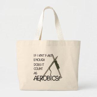 Knitting Aerobics Jumbo Tote Bag