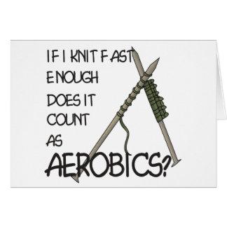 Knitting Aerobics Greeting Card