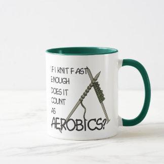 Knitting Aerobics Mug