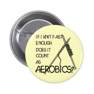 Knitting Aerobics Pinback Button