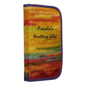 knitting agenda folio planners