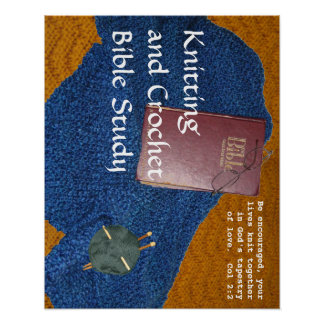 Knitting and Crochet Bible Study poster