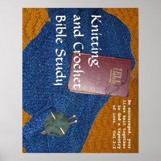 Knitting and Crochet Bible Study poster