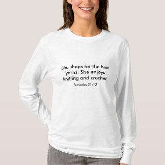 Knitting and Crochet ladies shirt