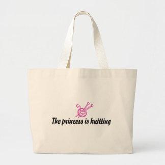 Knitting Jumbo Tote Bag