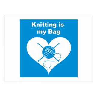 Knitting Bag Postcard