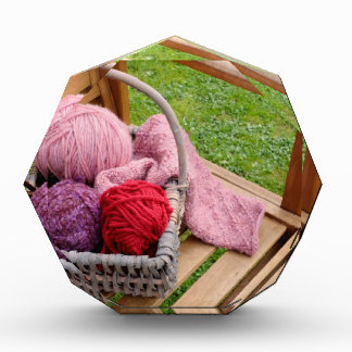 Knitting basket acrylic award