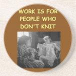 knitting beverage coasters