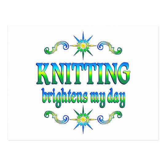 Knitting Brightens Postcard