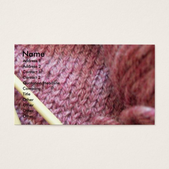 Knitting/ Business Card
