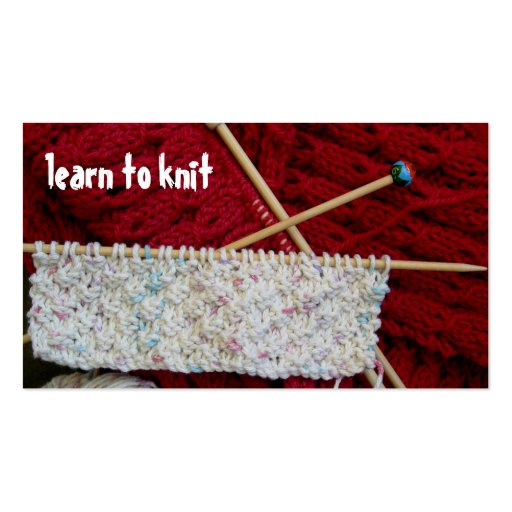 Knitting Business Custom Advertisement Card Business Cards