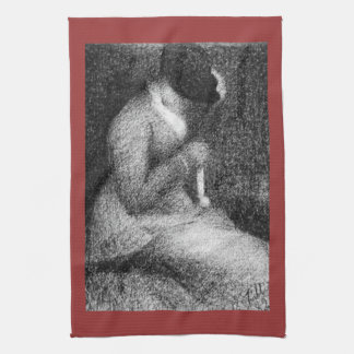 Knitting by Georges Seurat Hand Towel