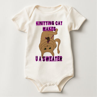 Knitting Cat Makes U A Sweater