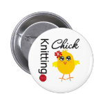 Knitting Chick 2 Button