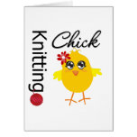 Knitting Chick 2 Greeting Cards