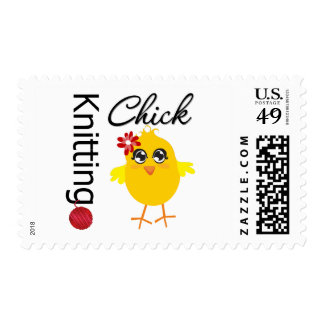 Knitting Chick 2 Stamps