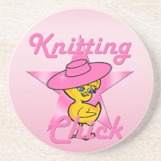 Knitting Chick #8 Coaster