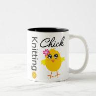 Knitting Chick Coffee Mugs