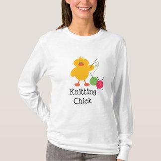 Knitting Chick Long Sleeve Tee