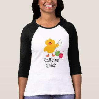 Knitting Chick Raglan Tee