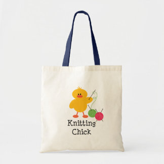Knitting Chick Tote Bag