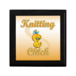Knitting Chick Trinket Box