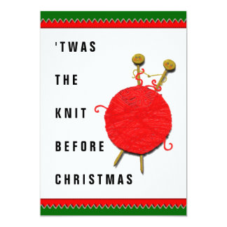knitting Christmas Card