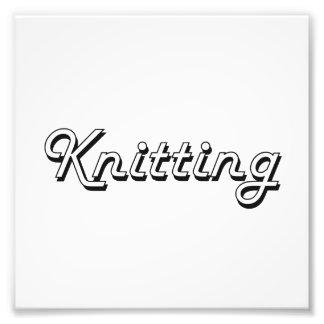 Knitting Classic Retro Design Photo Print